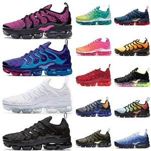 Nike Air Vapormax Plus tn PLus scarpe da corsa per le donne degli uomini a formatori geometrica attivi Fucsia triple bianchi corridori neri scarpe da ginnastica