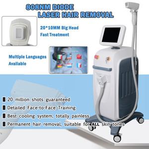 La depilación diodo dispositivo portátil clínica de diodo 808nm depilación láser permanente de belleza láser depilación láser máquina