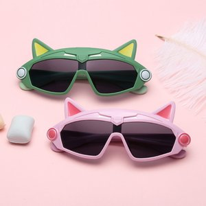New trend personality anti-UV sunglasses, polarized silicone sunglasses for children, cool king kong glasses