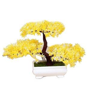 Falso Simulado Artificial Pine Bonsai Planta Saudação boas-vindas Supplies ornamento vaso Decor Árvore Artificial Decoração Floral