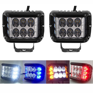 luz 2PCS 4inch 45W LED duplo Side Shooter Luz de trabalho 12V Off Road Driving Flashing Para Car Truck Jeep Captura de SUV Led Bar