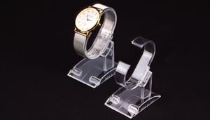 20pcs acrilico trasparente di plastica orologio da polso del braccialetto del supporto del banco di cremagliera deposito del negozio Stand