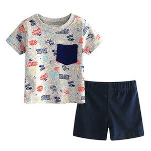 Baby Boy Summer Toddler Infant Boys T-Shirt + Pants Set Cotton Newborn Suit Printing Infant Set Newest d