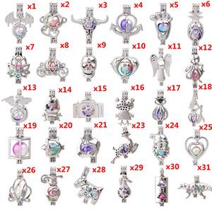 700 Designs Lotus Árvore do boneco de Vida Coruja Pérola gaiola Medalhão Lava Beads essenciais Charms colar de bola Difusor Pendant óleo para fazer