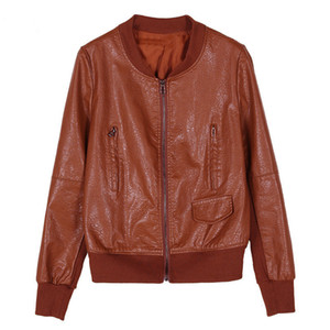 Spring Autumn Short Jackets for Womens 2019 PU Leather Outerwear Plus Size Student Casual Top Slim Female Short Coats RE2267