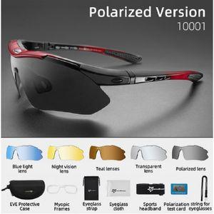 Occhiali da sole polarizzati ROCKBROS sport degli uomini degli occhiali da sole di ciclismo su strada i vetri della bici di montagna della bicicletta di protezione di guida Occhiali Eyewear 5 Lensuv400