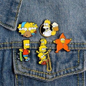 Yaka Pin Farklı Modeller Simpsons Emaye Pim Ve Broş İçin Arkadaşları Çizgi Karakter Takı Hediye Çocuklar