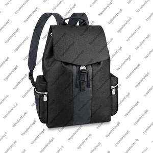 M30417 M30419 Mochila al aire libre genuina piel de vacuno de lona Eclipse hombres del diseñador del recorrido del bolso del equipaje mochila bolso del totalizador del hombro correas
