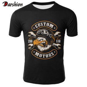Skull T Shirt Men Black Tshirt Funny Motorcycle Punk 3d Printed T-shirt Hip Hop Mens Clothing Casual Punk Rock Streetwear Top T200605