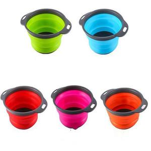 Creativo Kitchen Sink rotonda pieghevole telescopica silicone di frutta Cestino di detriti Cestini di immagazzinaggio di scarico Basket cestino di lavaggio LXL955-1