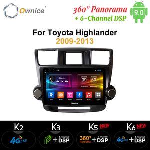 "Ownice 10.1"" coches reproductor de radio del GPS Navi K3 K5 K6 para Toyota Highlander 2009 2013 2014 2015"