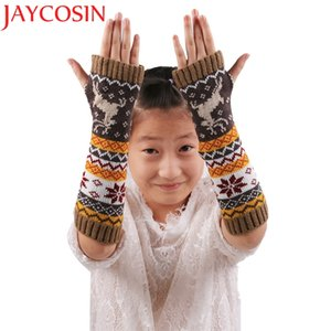 JAYCOSIN Maketing 4colors Women Fingerless Knitted Gloves Arm Warmer Winter Spring Gloves arm warmers Female Gloves