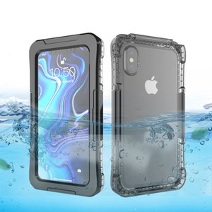 Para iphone 11 Pro Max Xs Xr X IP68 impermeável Mergulho Swim Proof Dustproof telefone capa para iphone 7 8 Plus 6s 6 completa Caso Proof Sealed Água