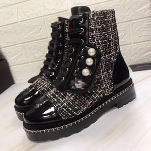 C c Marke Retro Ultra-Ankle Boots 2 Farben der Frauen Designer Schuhe Schneestiefel Winter Damen Stiefel Plus Size Echt Bild