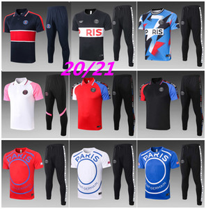 2020 2021 New MBAPPE ICARDI Polo Short sleeve shirt trousers KIMPEMBE SARABIA soccer tracksuit Polo Football shirts training Survetement
