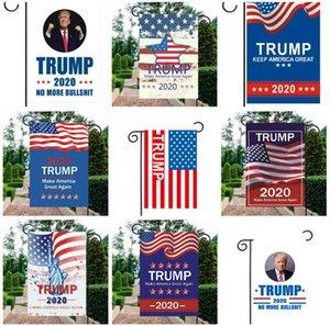 Banderas de pancartas de doble cara Trump Garden Flag 30 x 45 cm decorar al aire libre Chunya Textil garden flags American garden flag Trump flags