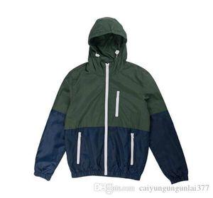 New Men Jacket Thin Coat Casual sport runner Sweatshirt Jackets Windbreaker Hooded Hoodie Long Sleeve Sportswear Outdoor Mens Clothing S-3XL