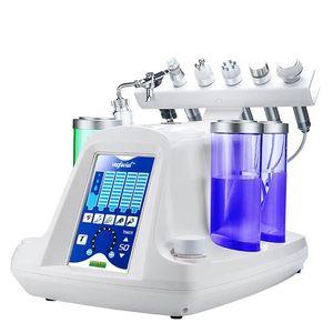 6 в 1 вакуумного отсоса Черноголовых воды Hydro-дермабразия лица Распылитель Машина для лица hidrafacial машина