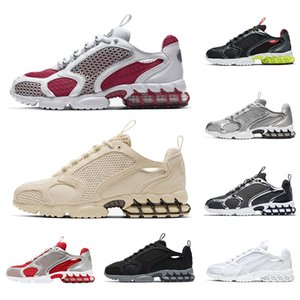 stussy x nike air zoom spiridon cage 2 fossil uomo donna scarpe da corsa triple white cool grey outdoor uomo sneaker sport sneakers runners 36-45