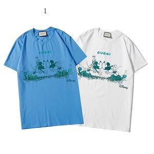2020 Lüks Erkek Gömlek Yaz Erkek designerT-shirt Kısa Kol Maymun Desen Kadınlar brandTop Tees Hip Hop Moda Streetwear 2020311K