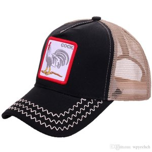 new cock cap Baseball Caps Rooster Embroidery Hats Men Snapback Breathable Mesh Bones Fashion Streetwear Cock Trucker Cap Women