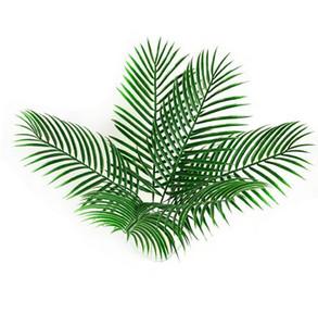 Yapay sahte Plastik Yapraklar yeşil bitkiler Sahte Palm Tree Yaprak Yeşillik Çiçek çiçek Aranjmanı flore düğün dekorasyon için GB116