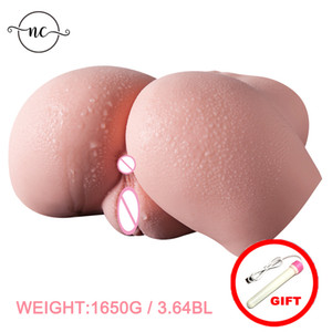 Silicone Big Ass 3D sex doll artificial vagina real pussy Male masturbator cup buttock for man sex shop Sex Toys for Men Y201118