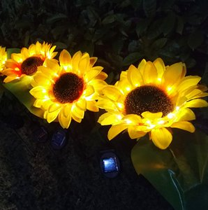 LED Solar Garden Lights Outdoor Villa Community Decorative Lamp Sunflower Ground Flower Lamp