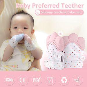 Детские силиконовые варежки детские соску Молярные Перчатки Зубные жевательные кормящих Прорезыватель Детские перчатки Царапины для новорождённых