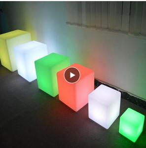 الصمام ضوء مربع ضوء مكعب كرسي ضوء في الهواء الطلق للماء للتحكم عن بعد شحن البراز مربع PE الإضاءة الأثاث البراز
