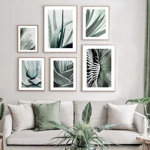 Succulent Plants Canvas Painting Green Leaf Nature Poster Nordic Print Botanical Wall Art Picture Modern Living Room Decoration