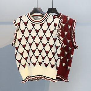Love cute little fresh pullover vest sleeveless sweater knitted mori girl YFNT2464