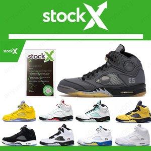 Yeni Jumpman 5 5s Siyah muslin taze prens saten Üzüm Taze Prin Ada Yeşil tasarımcının spor ayakkabısı ABD 7-13 mens Erkekler basketbol ayakkabıları yetiştirilen