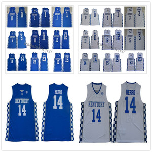 Kentucky Wildcats Tyler Herro Jersey Tyrese Maxey John Wall Anthony 23 Davis Demarcus 15 primos Malik Monk College Basketball Jerseys