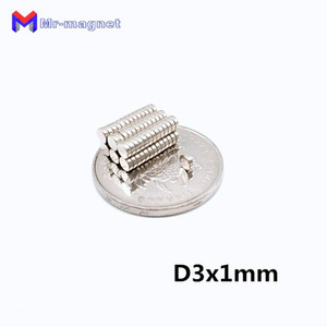 2019 imanes sıcak satış 80 derece Süper Güçlü Dolabı Magnet 500 adet D3x1mm 3x1mm N35 kalıcı Nadir Toprak mıknatıslar 3mm x 1mm Eksenel mıknatıslı