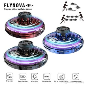 FlyNova UFO Fidget Spinner LED Light 360° Rotation Flying Toys Men Women Office Decompression Mini Toys Boys Girls New Year Gifts 04