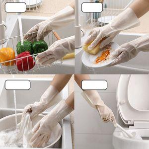 De lavar roupa luvas luvas domésticas de lavar louça luva de borracha de cozinha para lavar roupas de limpeza Luvas Início Ferramentas HHA1141