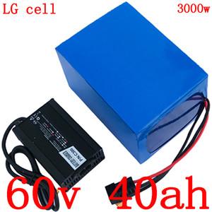 면세점 60 리튬 배터리 V 60V 40AH 60V 40AH 전기 스쿠터 배터리 2000W 3000W 전기 자전거 배터리 사용 LG 휴대 전화