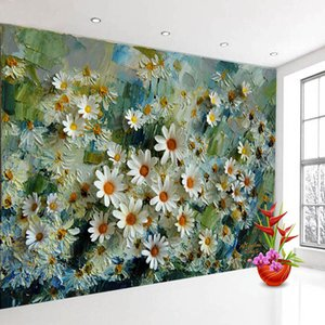 Bacal Custom 3D Photo Wallpaper Murals Floral Stereoscopic Oil Painting TV Backdrop Wall Papers Home Decor Prints Wall Art