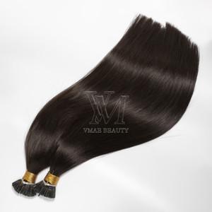 VMAE 1g strand 100g Pre bonded #2 Darkest Brown Mongolian Straight Keratin Single Double Drawn I tip Remy Virgin Human Hair Extensions
