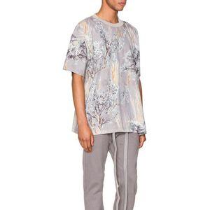 20SS Motif floral Tee mode haute qualité Oversize Couples manches courtes femmes et des hommes TShirts HFKYTX031