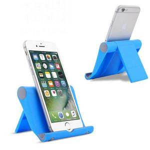 태블릿 아이폰 X 휴대 전화를위한 보편적 인 휴대용 각도 조절 스탠드 홀더 다채로운 유연한 데스크 전화 홀더 지원 브래킷 마운트