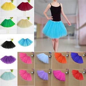 Kadın Tül Tutu Etek 13 Renkler Seksi Mini Petticoat Kabarık 3 Katmanlar İplik Bale Dans Etek İçin Lady yetişkin tül etek