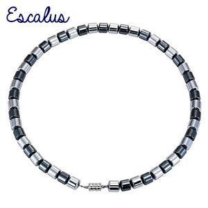 Escalus Energie Starke Tonnenform Magnetische 49 stücke Hämatit Perlen Ketten Halsketten Für Heilende Frauen Klassische Männer Halskette Schmuck