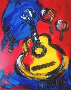 GUITAR CUBAINE par Mark Kazav Modern Abstract Pictures Home Décor Artisanats / HD Imprimer Peinture à l'huile sur toile Wall Art Toile 200203