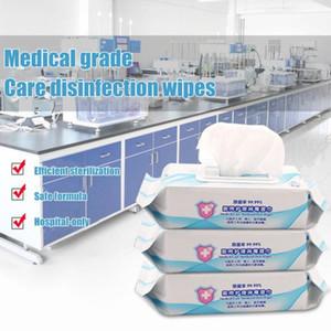 25pcs / Box Disinfezione portatile tamponi imbevuti di alcool Pad tamponi antisettici Cleanser Pulizia Sterilizzazione First Aid casa