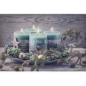 Christmas Candles, Pine Cones,DIY Diamond Painting Kits,Diamond Embroidery Mosaic Paint Cross Stitch Full Drill Home Decoration