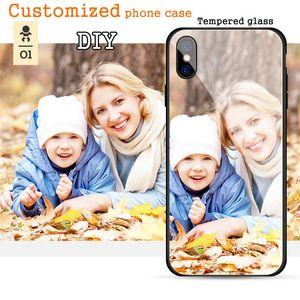 Teléfono personalizado Imprime vidrio templado Funda de teléfono personalizada para iphone X / XS / MAX / XR / 8 / 8Plus case diy 7Plus 6plus Design Photos