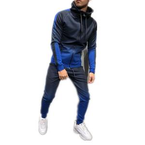 Marca Men Traje de 2 piezas Set de 2 piezas 3D Gradient Color Casual Sudaderas Sudaderas Sudadera y Pantalones Sportswear Joggers Hombres Conjuntos Tamaño M-3XL