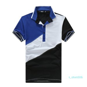 Mens Designer Polos Joint Lapel Crew Neck Color Matching Summer New Fashion European And American Wind Casual Style Short Sleeve t06